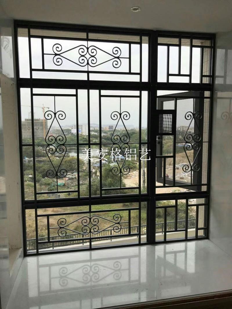 美安格中式铝合金防盗窗花欧式免焊接防护艺术窗防盗网防护栏围栏