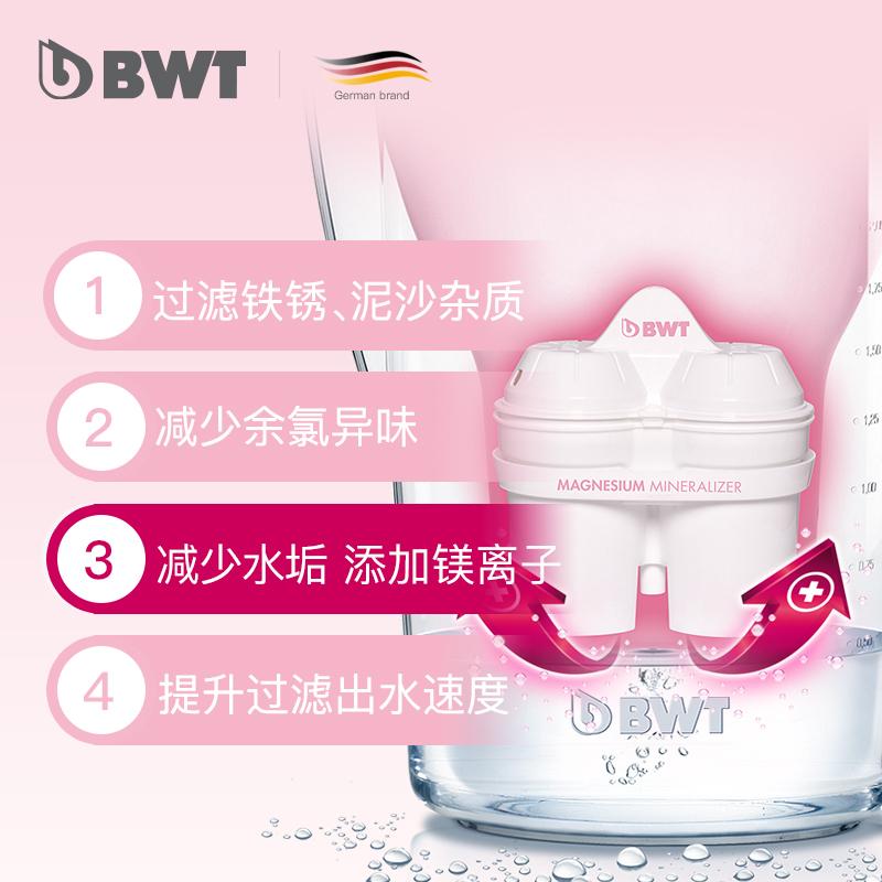 德国BWT净水壶家用进口镁离子原装过滤水壶家庭净水器1壶4滤芯
