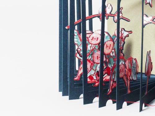 日本原版进口 360°BOOK 葛飾北斎雀踊り 3D立体书 葛饰北斋麻雀舞 360 创意立体图书 创意礼物书