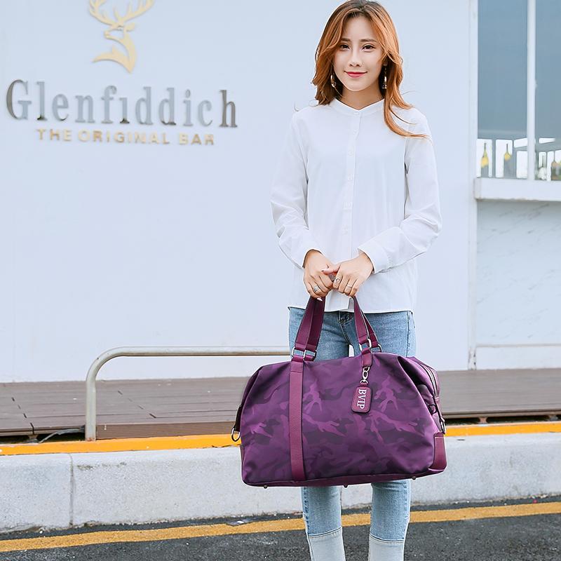 旅行包女手提旅行袋短途行李袋女大容量旅游包轻便登机包健身包潮