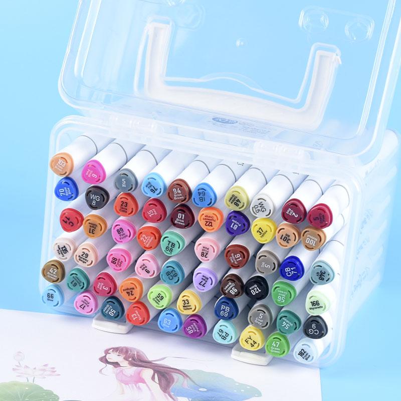 马克笔套装小学生用手绘油性记号笔动漫绘画彩笔36色装双头马克笔