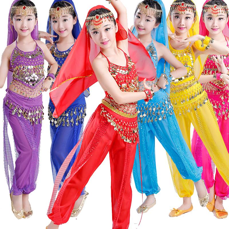 六一儿童印度舞演出服女童肚皮舞的表演服装新疆幼儿园民族舞蹈服