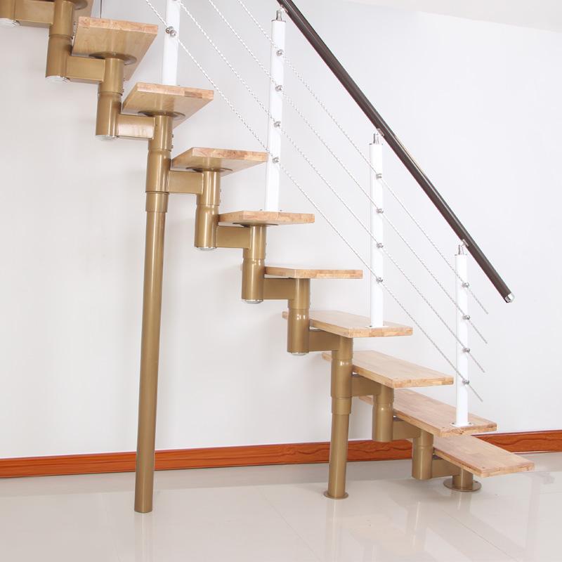 星昶缩颈楼梯 室内整体楼梯 钢木楼梯 现代简易楼梯 欧式复式楼梯