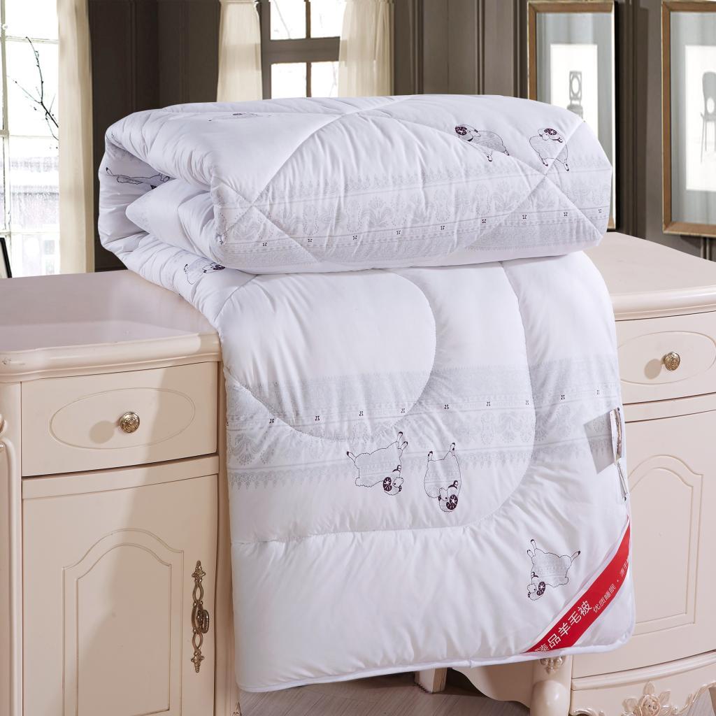 春秋被冬被纯棉加厚羊毛被4.0/6.0/8.0/10斤被子保暖厂家特价促销