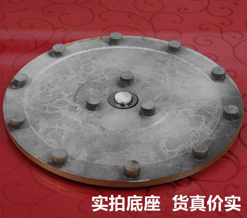 钢化玻璃转盘酒店圆台面餐桌转盘家用圆盘连体转台大圆桌转盘底座