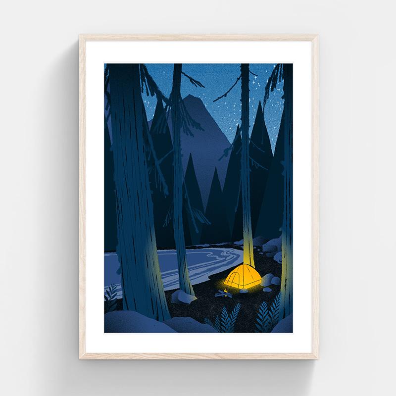 印物所出品 手印限量版画 「Yellow系列」 卧室客厅装饰画