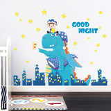 Robot sticker cartoon creative child boy room decoration layout wall veneer kindergarten bedroom small pattern