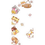 Cartoon creative door stickers children's room wall stickers kindergarten aisle wall stickers dormitory rental background wall decoration
