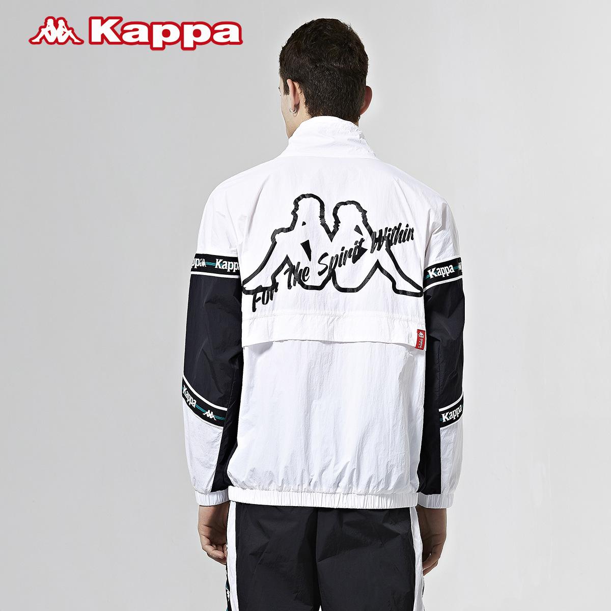 新款 卡帕串标情侣男女防风衣休闲立领外套撞色套头上衣  Kappa 2020