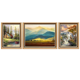 European style living room oil painting sofa background wall decoration painting American giant mountain mural atmospheric hanging painting restaurant wall painting