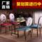 欧式复古餐厅铁艺餐椅酒店 美甲椅子 靠背椅家用时尚创意咖啡桌椅