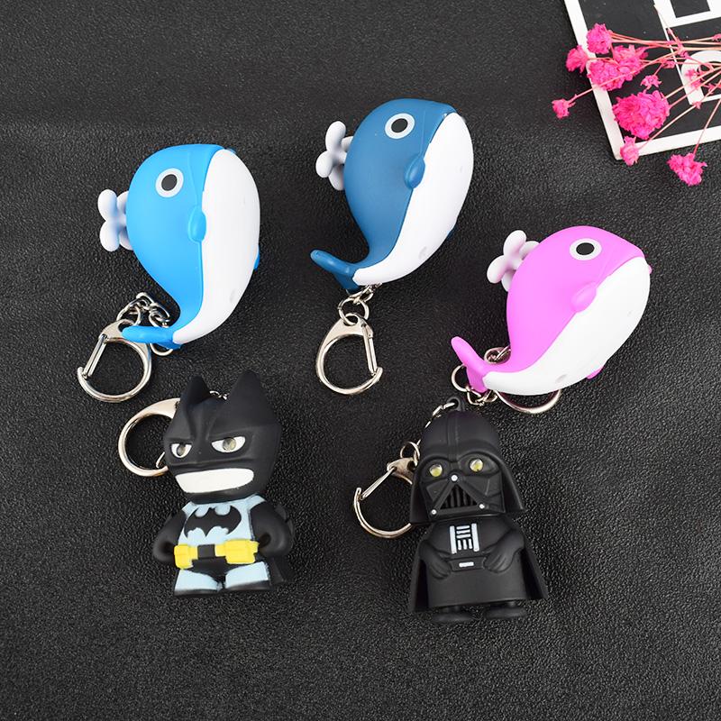 创意卡通可爱发光汽车钥匙圈扣包挂件创意男女士儿童学生小礼品
