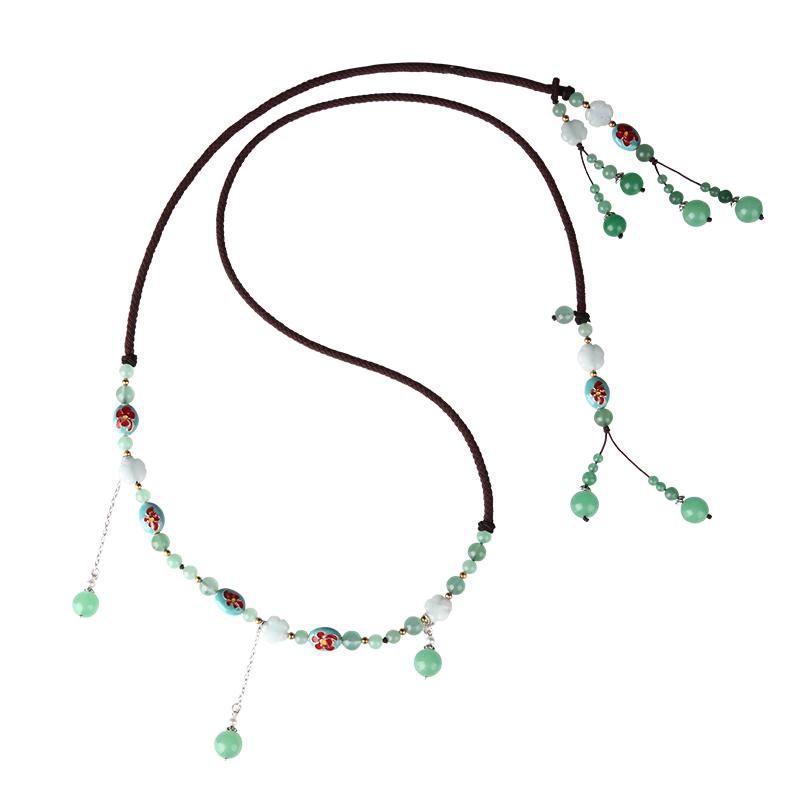 百搭编织打结细腰链女 流苏波西米亚民族风装饰连衣裙子毛衣腰带