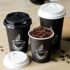 Disposable Cup Coffee Paper Cup Milk Tea Cup Thicken Hot Drink Soy Milk Cup Takeaway Packing Cup With Lid Customization