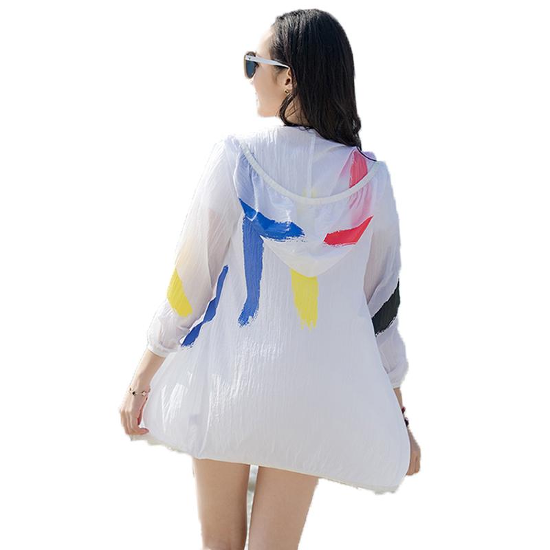 户外春夏季防晒衣女时尚轻薄中长款皮肤衣透气风衣外套多色空调衫