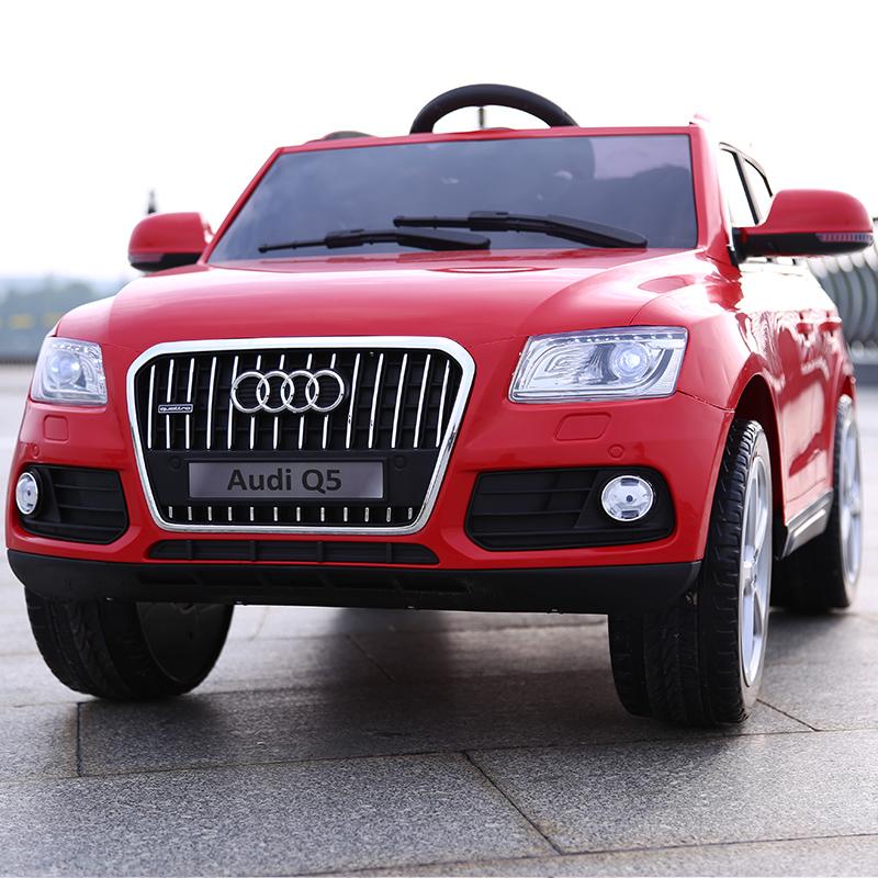 奥迪儿童电动车四轮越野童车可坐人宝宝小孩摇摆带遥控玩具汽车Q5