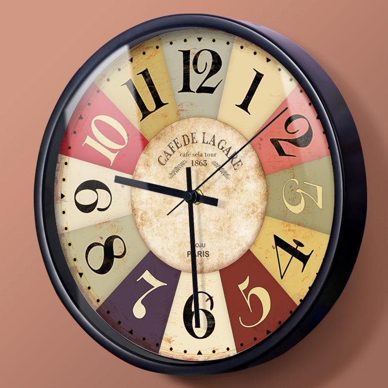 掛鐘現代歐式地中海美式掛錶創意客廳臥室大靜音石英時鐘表牆鍾