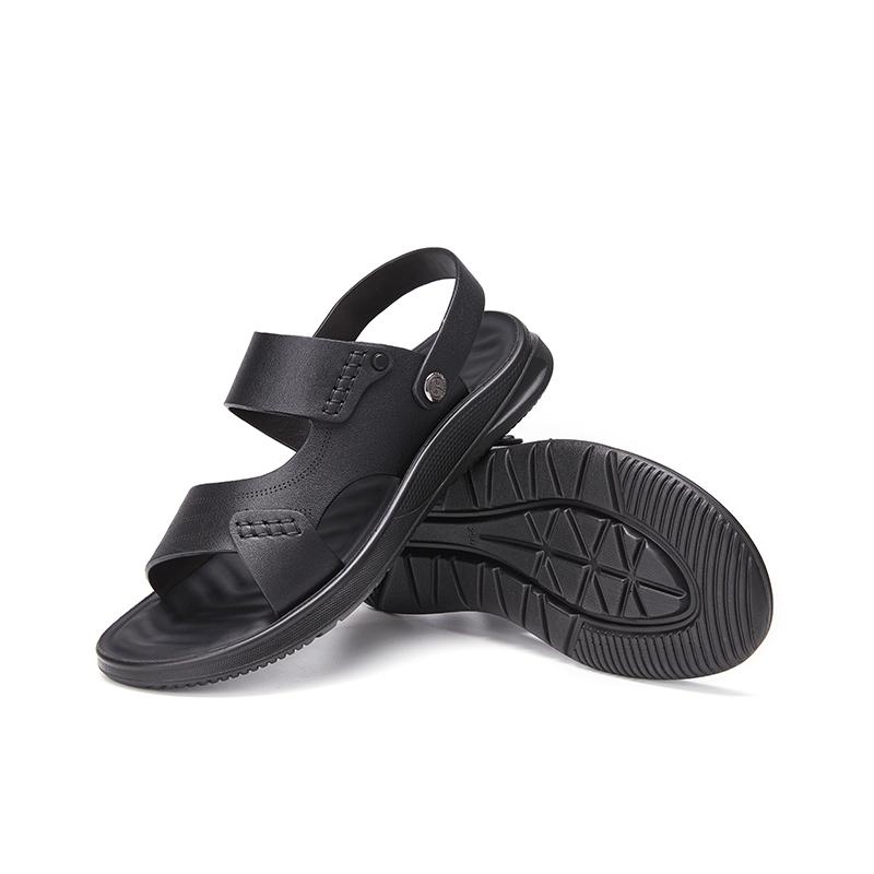 年夏季新款真皮软底防滑沙滩鞋男透气百搭商务凉鞋 2021 红蜻蜓男鞋