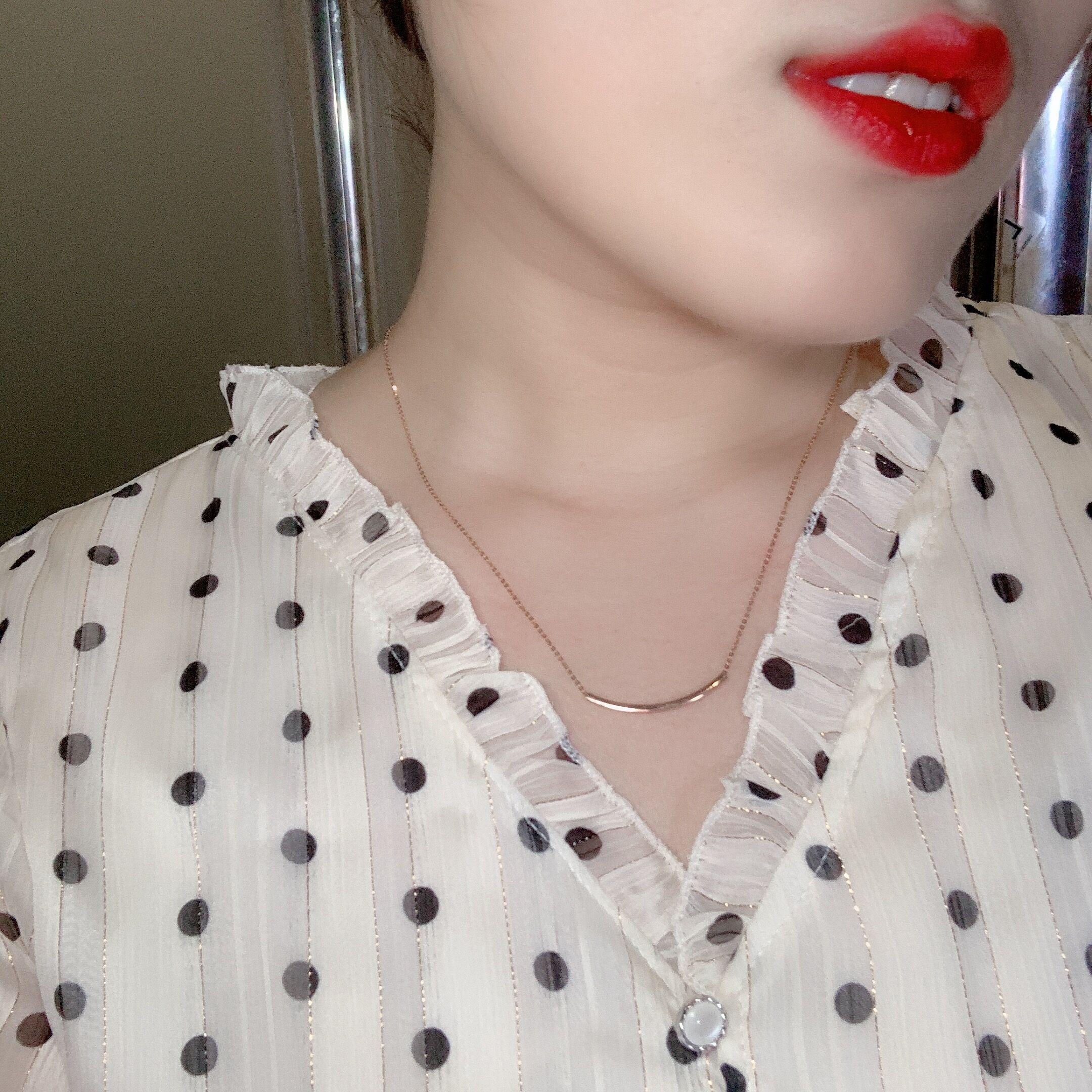 寸可调节 18 16 金双面笑脸项链 18K 小俊香港六福珠宝