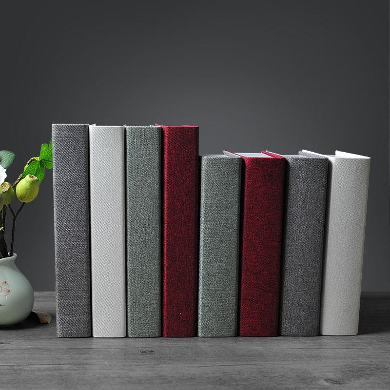 多色素色道具书样板房假书摆件 麻布仿真书新中式家居装饰品 舜虎