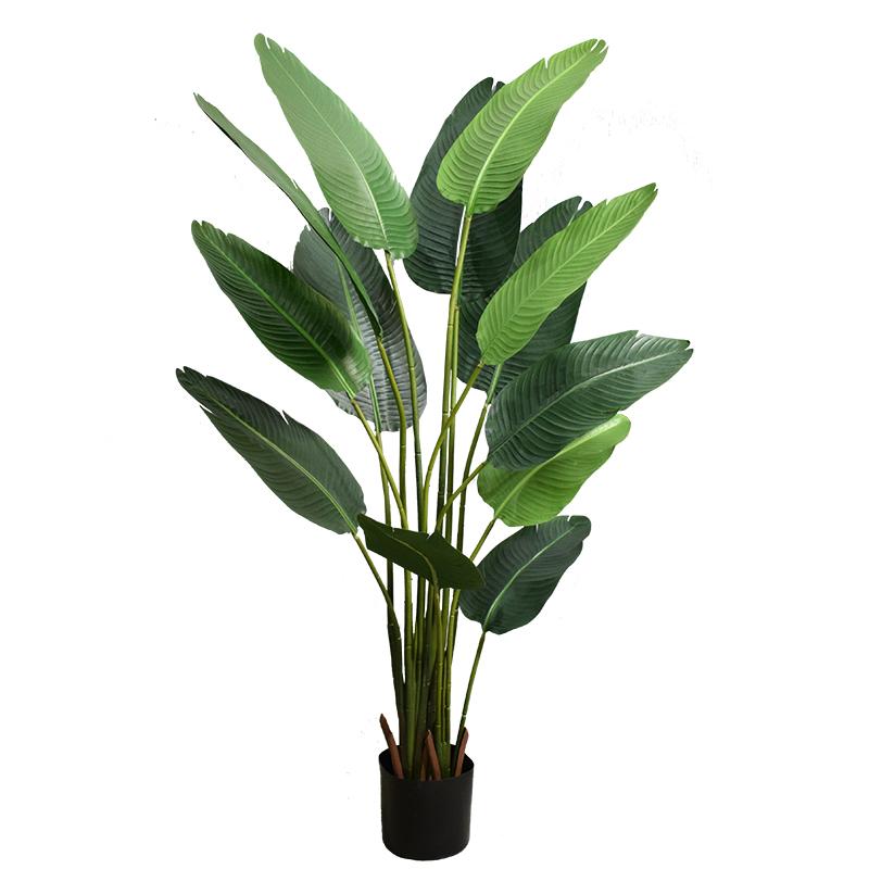 北欧仿真植物旅人蕉盆栽摆件客厅装饰假绿植龟背竹室内落地盆景树