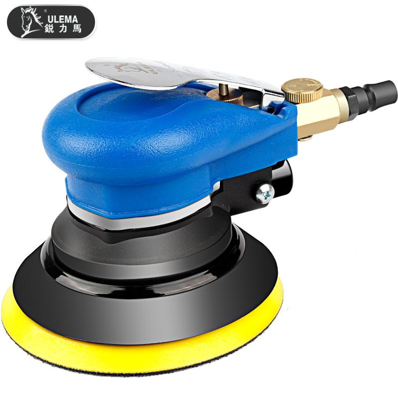 气动打磨机5寸抛光机汽车打蜡机磨光机气磨干磨机125带吸尘砂纸机