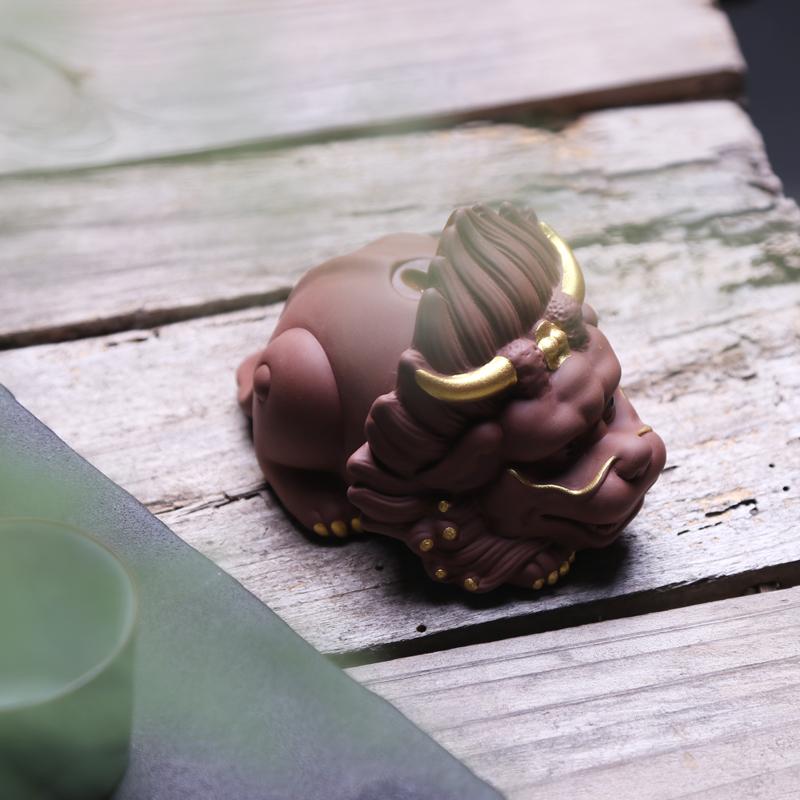 招财貔貅茶宠摆件精品可养茶宠陶瓷创意个性倒流香瀑布香塔香炉