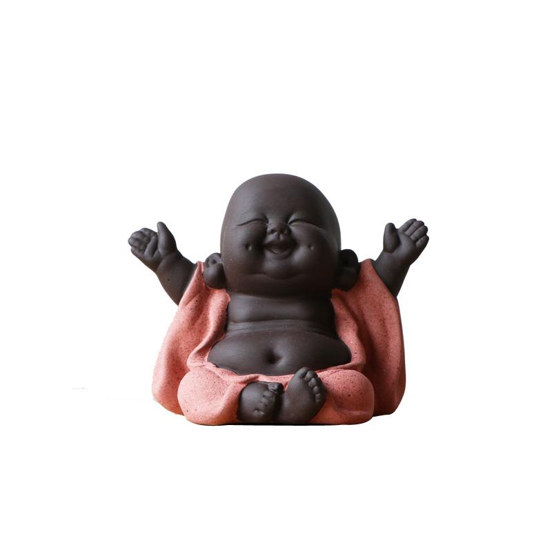 宜兴紫砂小和尚哈哈佛像精品茶宠茶具茶玩工艺品家居装饰摆件包邮