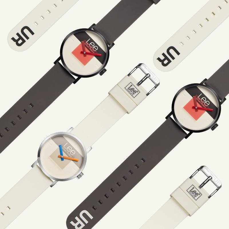 LEE手表学生男街头潮流新款男女运动风复古手表白色时尚腕表U266