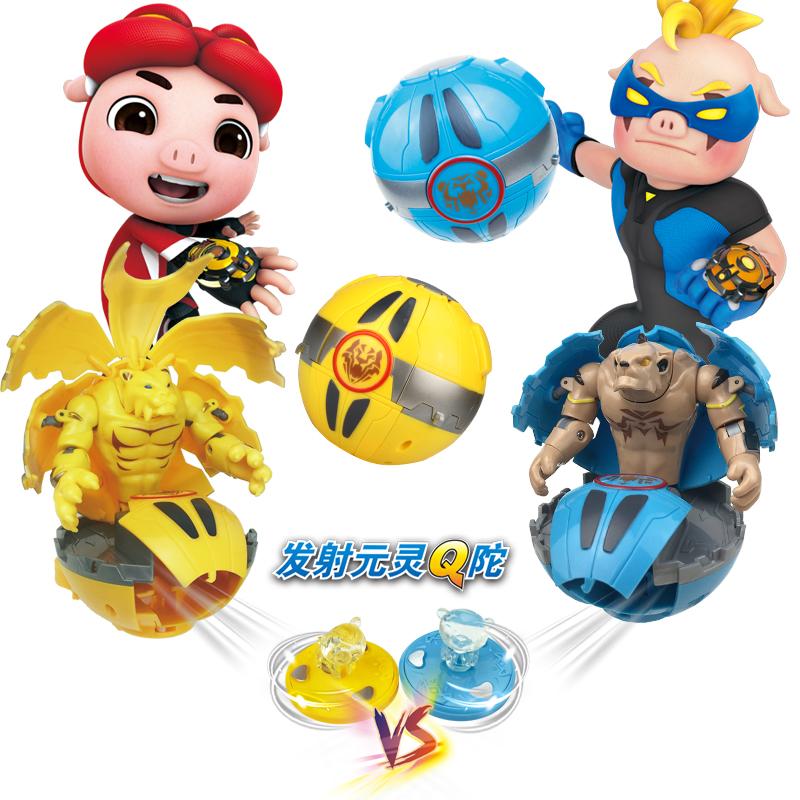 猪猪侠之恐龙日记五灵卫变形玩具竞球小英雄铁拳虎超星锁男孩手表