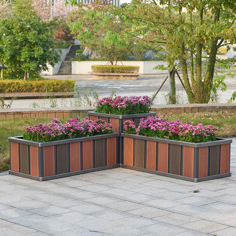 户外铝合金花箱别墅种花箱小区种菜箱家庭种植箱特厚