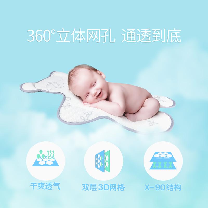 Aing爱音3D透气蜂巢凉垫儿童餐椅四季通风座垫婴儿推车凉席童车垫
