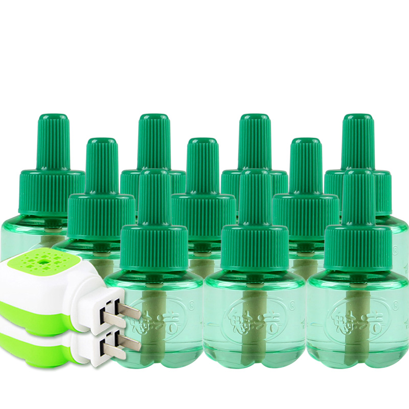 魅洁电热蚊香液10瓶套装送加热器孕妇宝宝驱蚊儿童婴无味防蚊液体