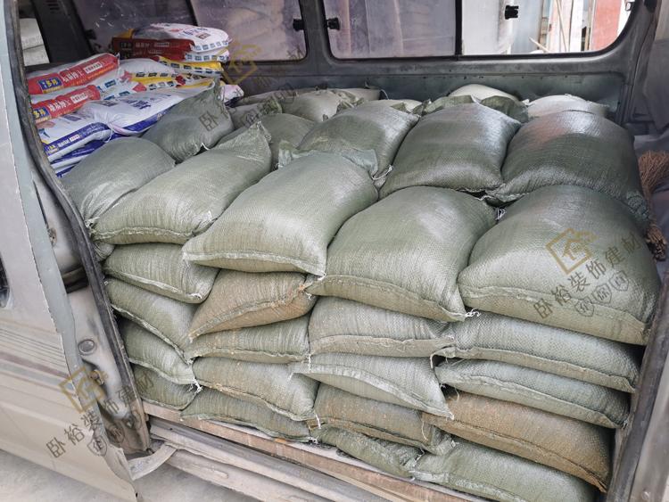 免费配送找平贴砖用机器灌装家庭装修河沙中沙粗沙黄沙子水泥新货