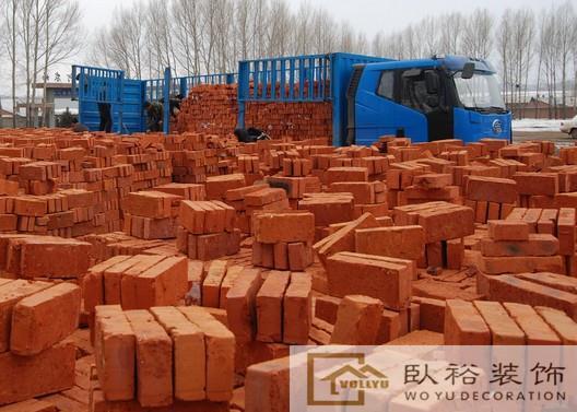 长沙免费配送电梯上楼标准95砖九五红砖直销黄沙水泥红砖厂家直销