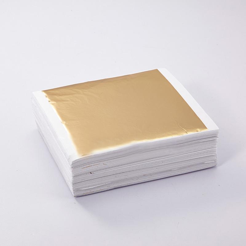金线牌手抓箔 装修贴顶贴铂纸 台湾抓皱香槟金箔14cm0.11元每张