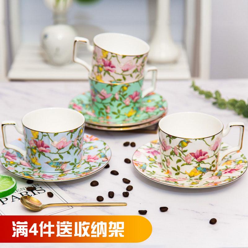 陶瓷咖啡杯歐式小奢華簡約拉花咖啡杯碟花茶杯套裝英式下午茶茶具