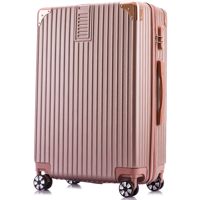 Net red trolley case suitcase college students password leather box 24 inch 200,000 wreck men INS travel bag female