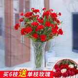 Carnations simulation bouquet vase of plastic flowers decorate the living room table decorations ornaments Single mothers spend holidays