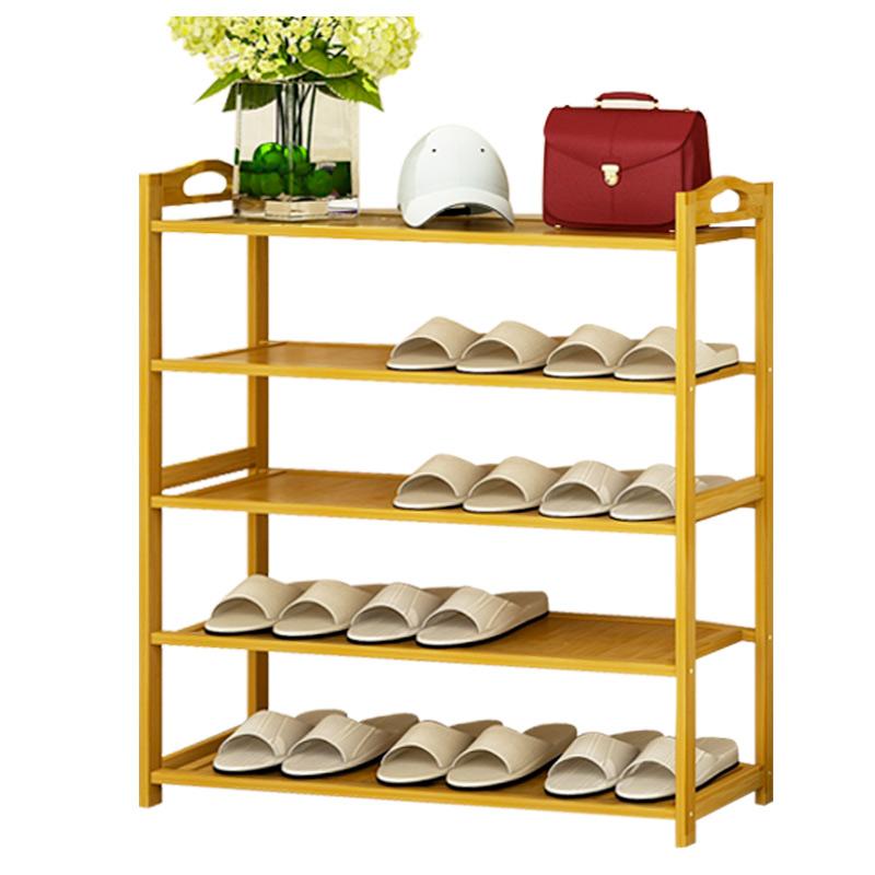多层鞋架简易家用经济型省空间鞋柜特价收纳架组装防尘实木鞋架子