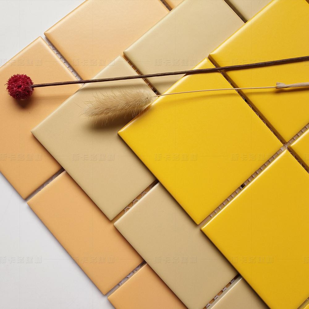 北欧风格厨房卫生间瓷砖彩色格子陶瓷马赛克 阳台浴室地砖九宫格