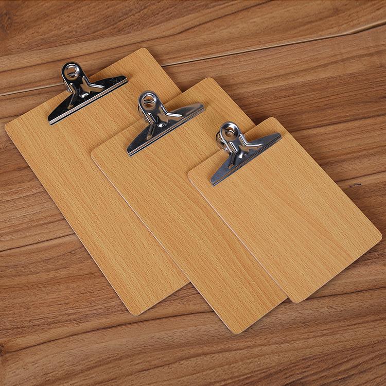 A4板夹A5写字垫板文件夹板A3木板夹纸板书写文具菜单夹子办公用品