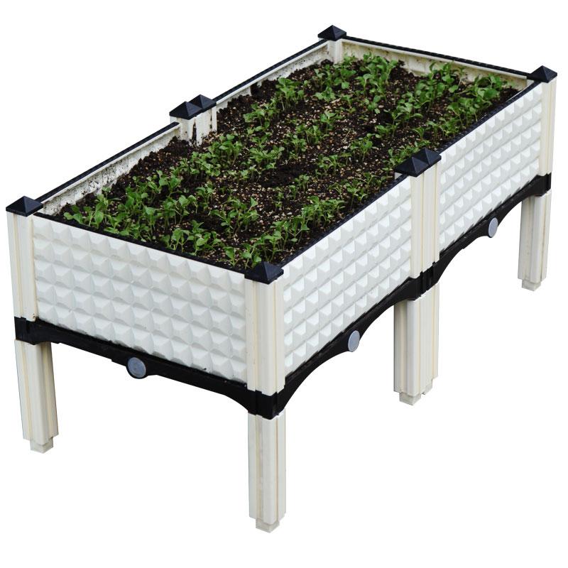 阳台种菜盆 室内蔬菜种植箱家庭菜园子花盆家用长方形种菜箱架子