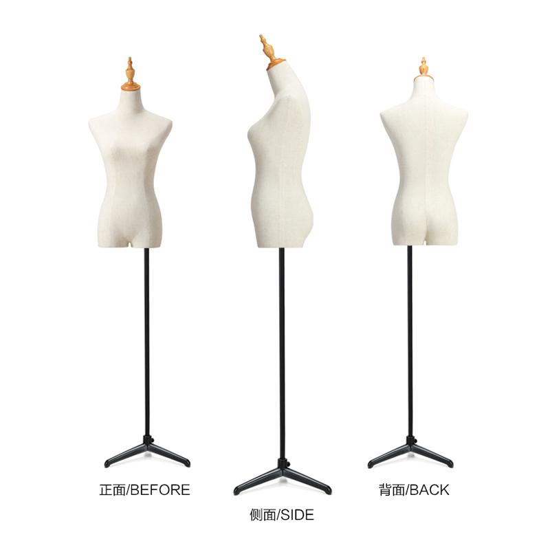 模特架女服装假人婚纱服装店橱窗陈列展示道具女装半身包布模特女