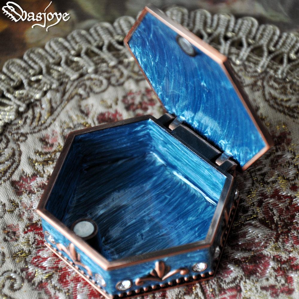 Wasjoye六芒星复古欧式公主首饰盒信物盒珠宝戒指饰品收纳盒礼物