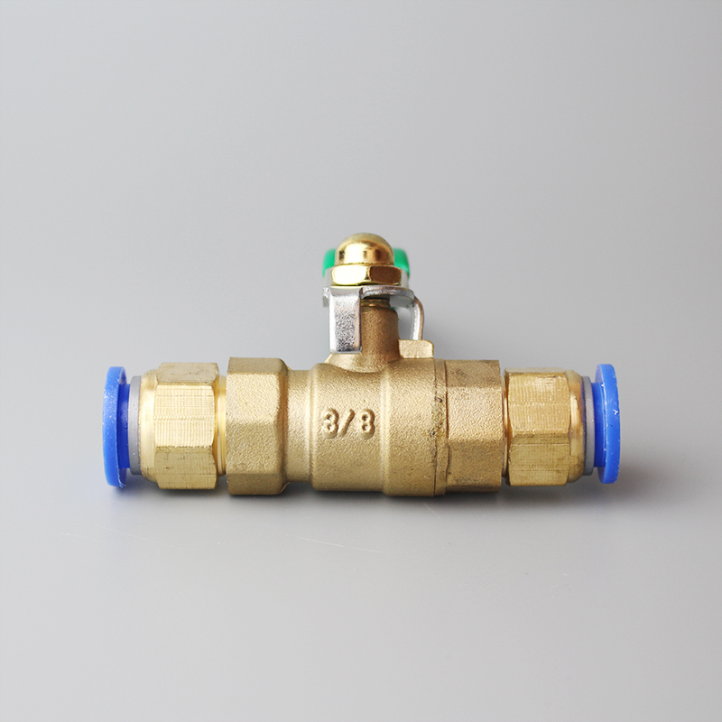 Color : B, Size : 8mm Joint Mini Pneumatic Ball Valve Air Pump Valve Switch Deflation Water Valve Inner and Outer Wire Quick Connector Pagoda