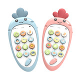 Baby boy female children's music phone toy phone baby girl can bite children 0-1 years old puzzle simulation