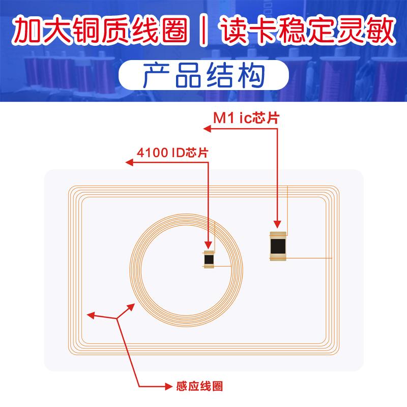 卡白卡门禁卡定制做 id 卡 ic 二合一智能感应 IDIC 双频复合卡 id ic