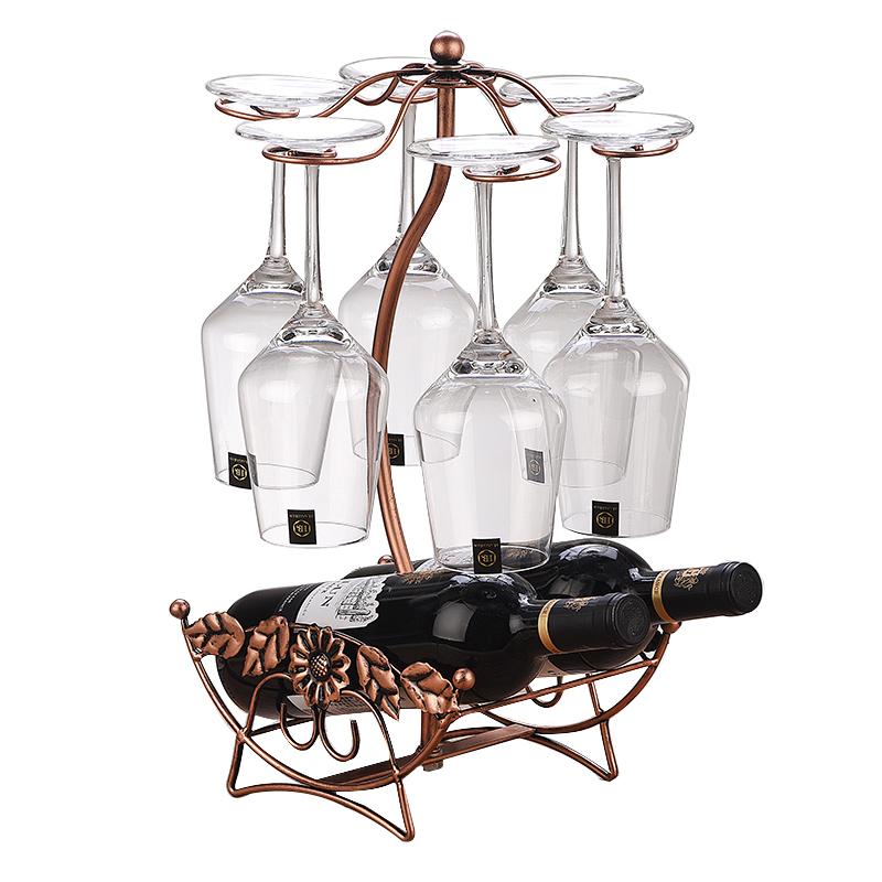 创意红酒架摆件家用高脚杯架倒挂红酒杯架欧式酒架酒柜装饰品架子