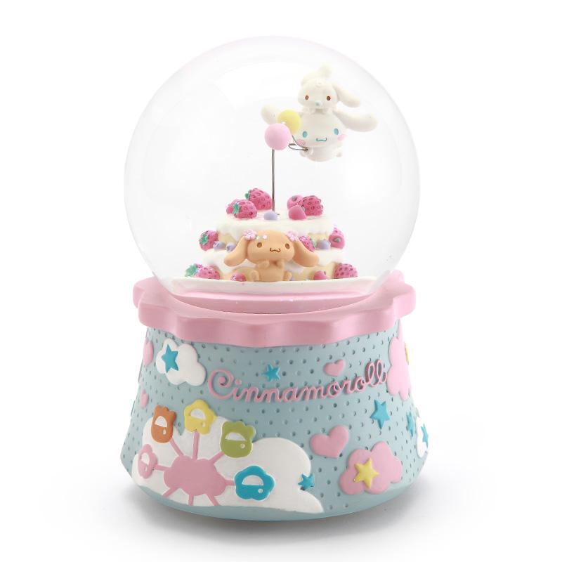 水晶球音乐盒八音盒送女生女孩儿童生日快乐圣诞礼物大耳狗 jarll